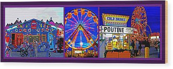 State Fair Triptych 2 Wood Print by Steve Ohlsen