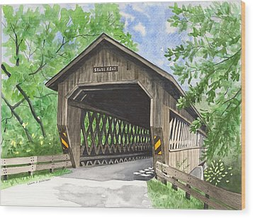 State Road Bridge Wood Print