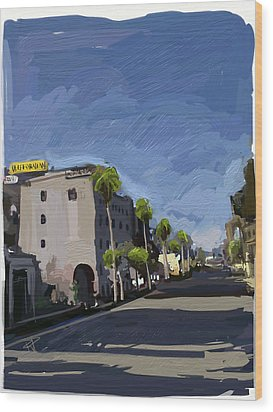 State Street Wood Print by Russell Pierce