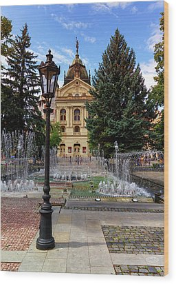 State Theater In The Old Town, Kosice, Slovakia Wood Print