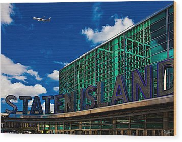 Staten Island Ferry Terminal Wood Print by Chris Lord