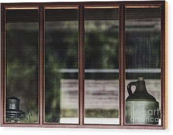 Wood Print featuring the photograph Station Window by Brad Allen Fine Art