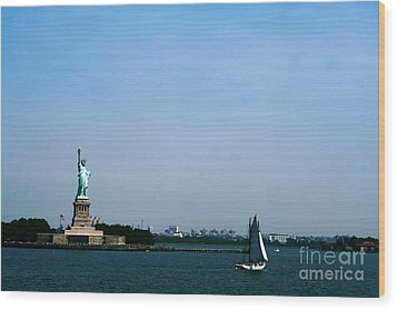Wood Print featuring the photograph Statue Of Liberty by The Art of Alice Terrill