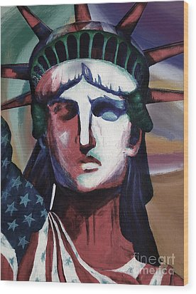 Statue Of Liberty Hb5t Wood Print by Gull G