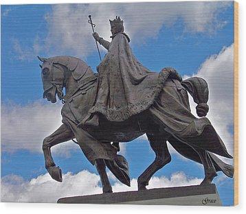 Statue Of St. Louis Wood Print by Julie Grace