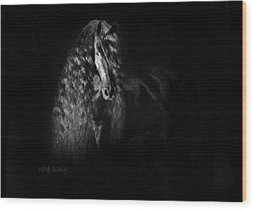 Statuesque Black Beauty Wood Print