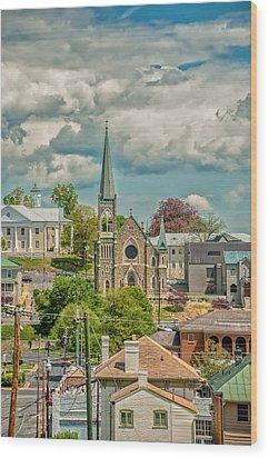 Staunton Cityscape Wood Print