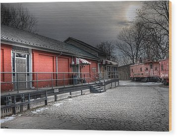 Staunton Va Train Depot Wood Print by Todd Hostetter