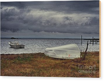 Wood Print featuring the photograph Staying Ashore by Mark Miller