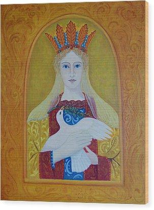 Wood Print featuring the painting Ste-marie-geest by Tone Aanderaa