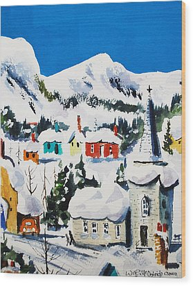 Ste. Saveur Quebec Wood Print by Wilfred McOstrich