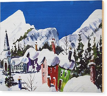 Ste.adele Quebec Wood Print by Wilfred McOstrich