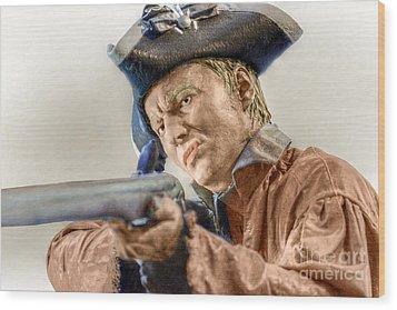 Steady Aim Milita Soldier Wood Print by Randy Steele