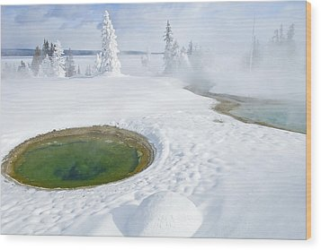 Wood Print featuring the photograph Steam And Snow by Gary Lengyel