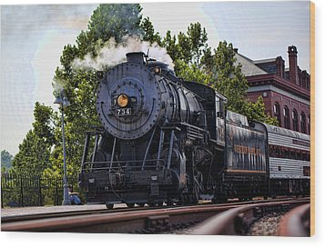 Steam Engine Of Cumberland Wood Print by Christina Durity