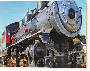 Steam Locomotive Engine 1215 . 7d12980 Wood Print by Wingsdomain Art and Photography