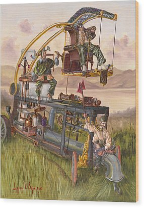 Steam Powered Rodent Remover Wood Print by Jeff Brimley