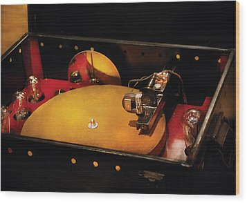 Steam Punk - Hey Dj Make Some Noise Cine-music System Wood Print by Mike Savad