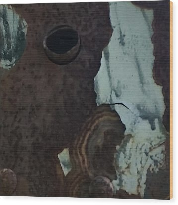 Rusted Away Wood Print