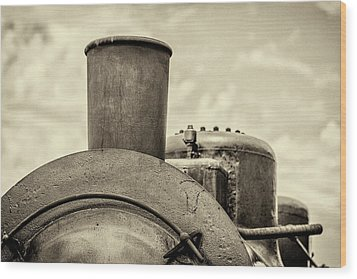 Wood Print featuring the photograph Steam Train Series No 2 by Clare Bambers