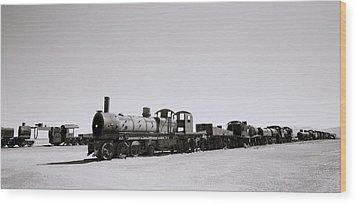 Steam Trains Wood Print by Shaun Higson