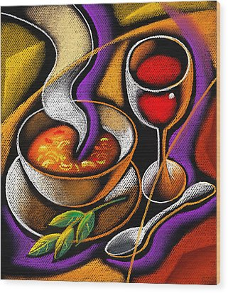 Steaming Supper Wood Print by Leon Zernitsky