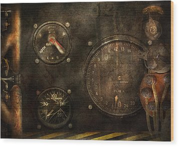 Steampunk - Check Your Pressure Wood Print by Mike Savad