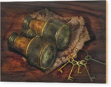 Steampunk - Extendo Optics  Wood Print by Mike Savad