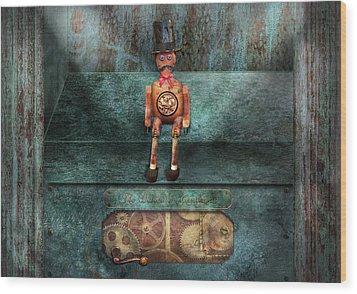 Steampunk - My Favorite Toy Wood Print by Mike Savad