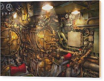Steampunk - Naval - The Torpedo Room Wood Print by Mike Savad
