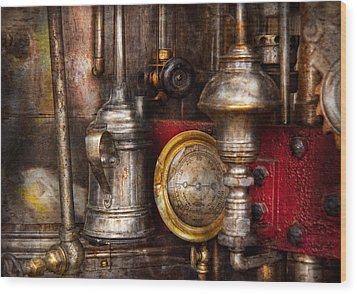 Steampunk - Needs Oil Wood Print by Mike Savad
