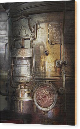 Steampunk - Silent Into The Night Wood Print by Mike Savad