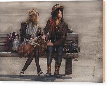 Steampunk - Time Travelers Wood Print by Mike Savad