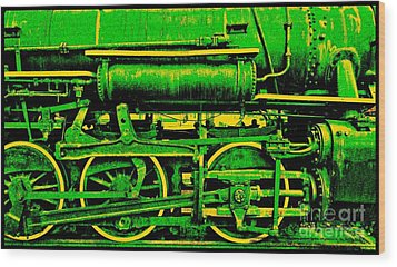 Steampunk Iron Horse No. 3 Wood Print by Peter Gumaer Ogden