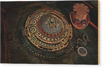 Wood Print featuring the photograph Steampunk by Louis Ferreira