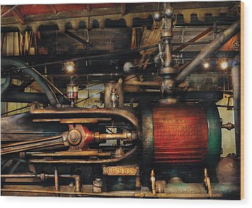 Steampunk - No 8431 Wood Print by Mike Savad