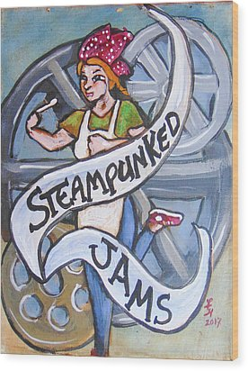 Steampunked Jams Wood Print by Loretta Nash