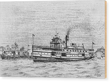 Steamship Nobska Wood Print