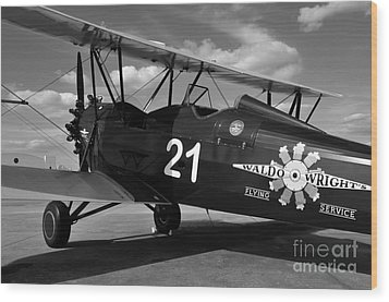 Stearman Biplane Wood Print by David Lee Thompson