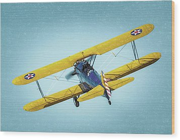 Wood Print featuring the photograph Stearman by James Barber