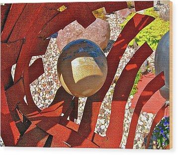 Steel And Shadows Wood Print by Randy Rosenberger