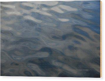 Steel Blue Wood Print by Donna Blackhall