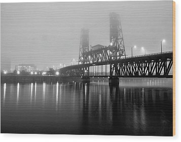 Steel Bridge Wood Print