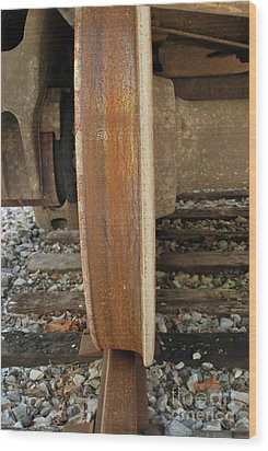 Steel Wheel Wood Print by Randy Bodkins