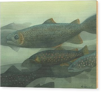 Steelhead Wood Print by Anne Havard