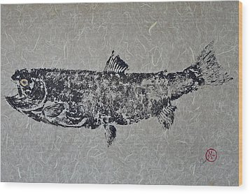 Steelhead Salmon - Smoked Salmon Wood Print