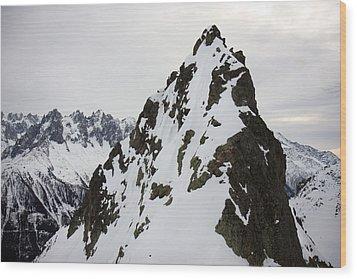 Steep Mountain Chamonix France Wood Print by Pierre Leclerc Photography