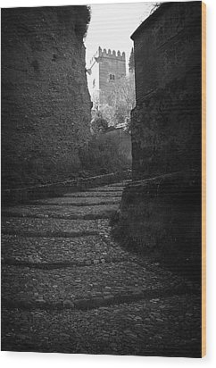 Steep Walk To The Tower Wood Print by Jez C Self