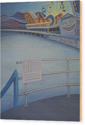 Steeplechase Pier Wood Print