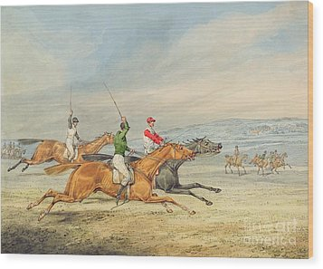 Steeplechasing Wood Print by Henry Thomas Alken